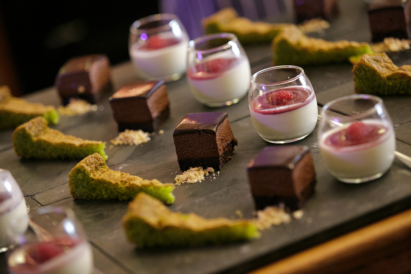 Fine dining Desserts at the somerset retreat