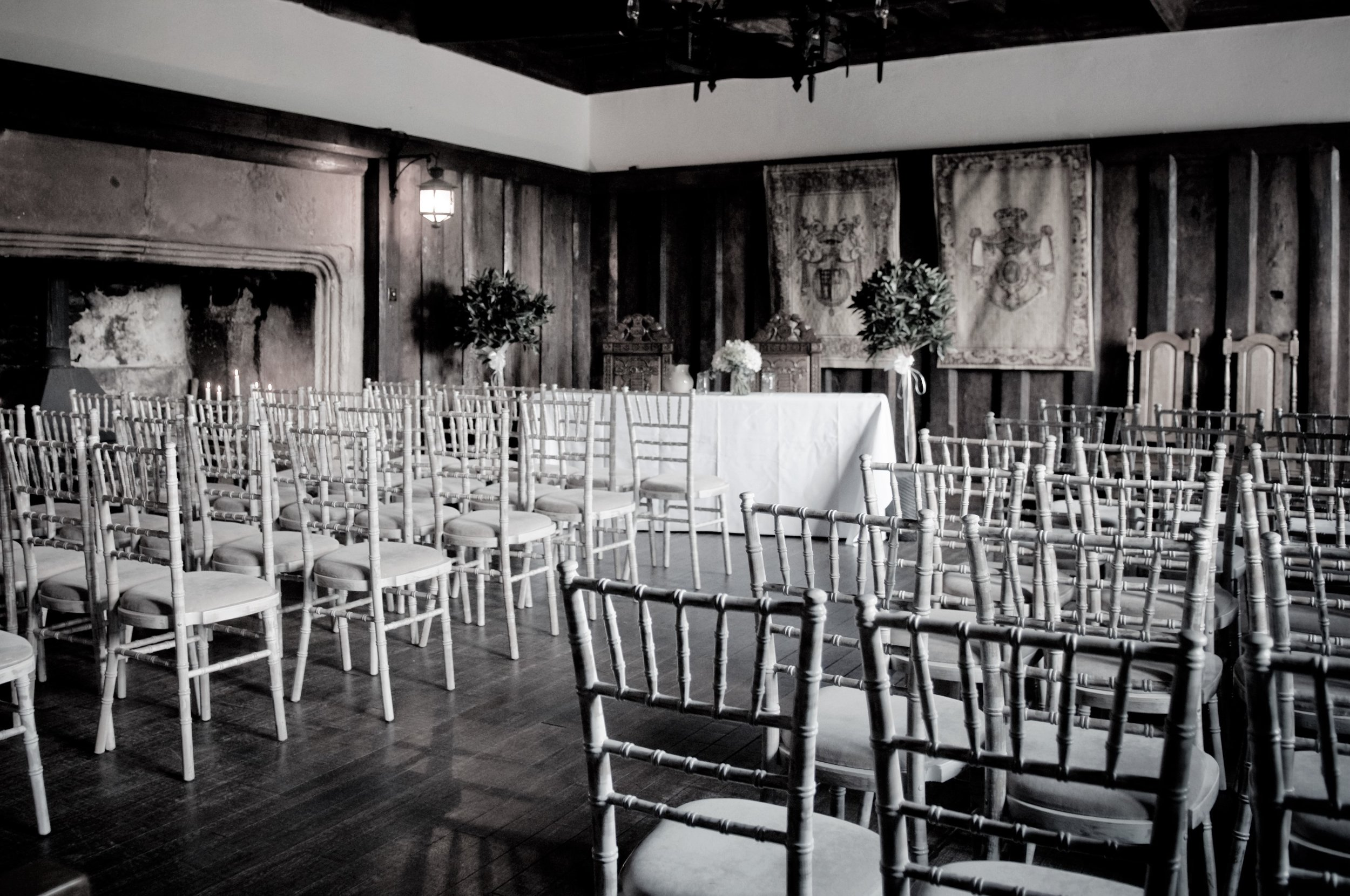 Ceremony set up - bw.jpg