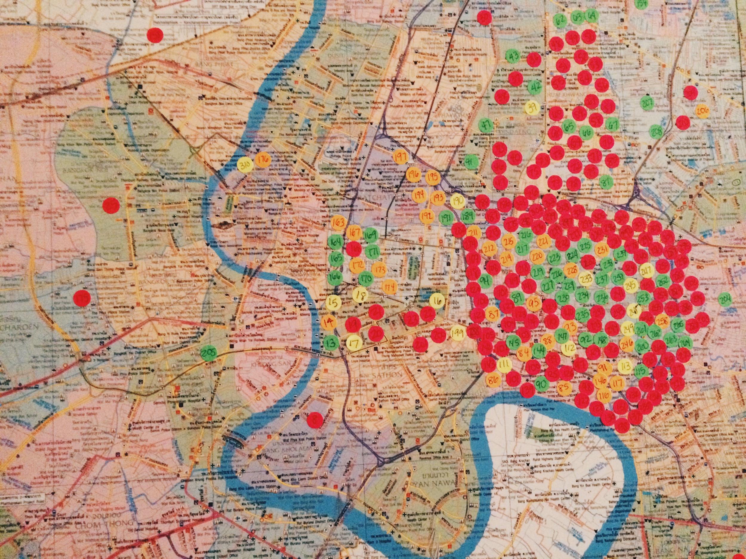 Prayer Map of Bangkok