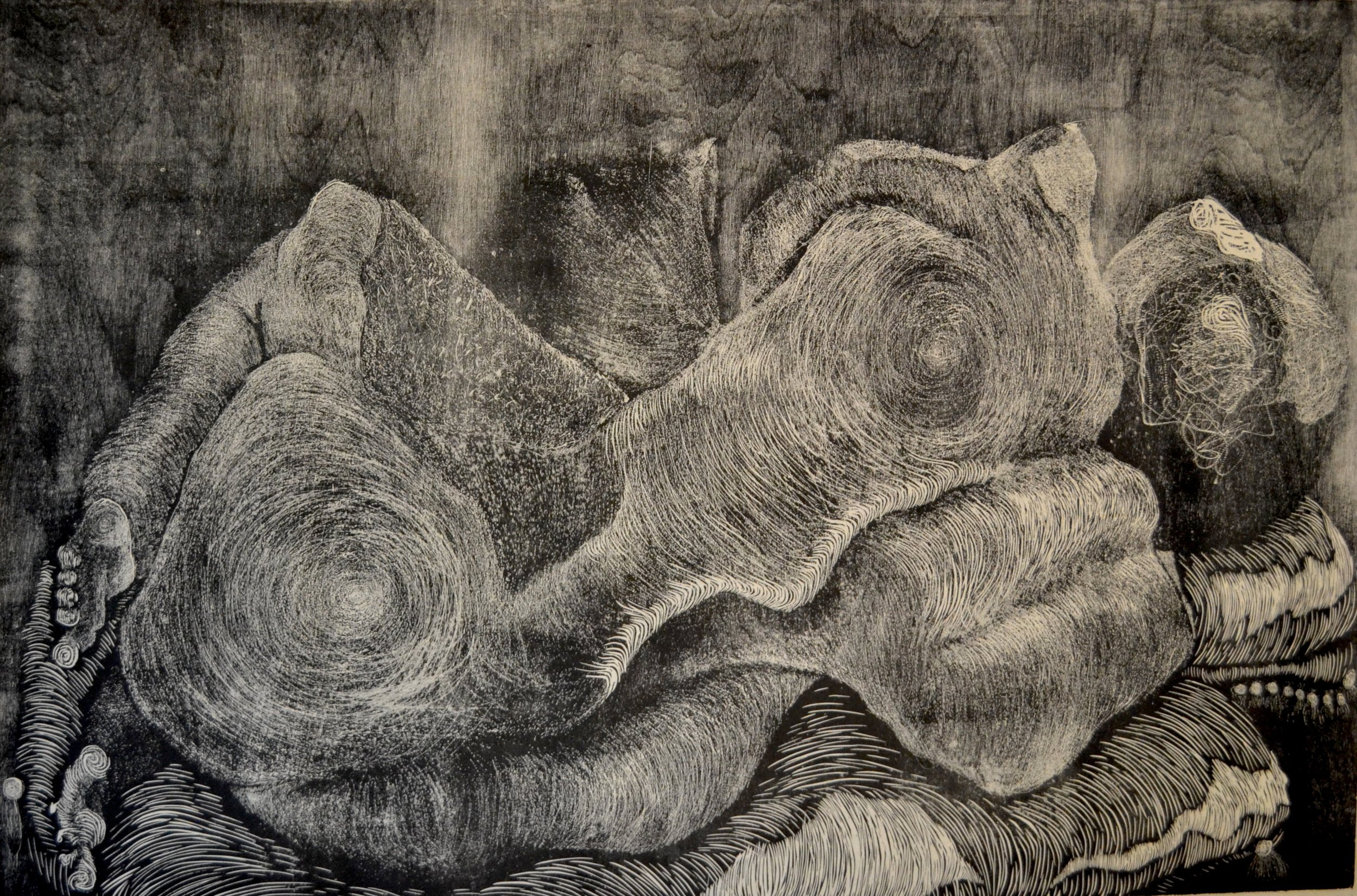 """Curled 1   48""""x36"""""""