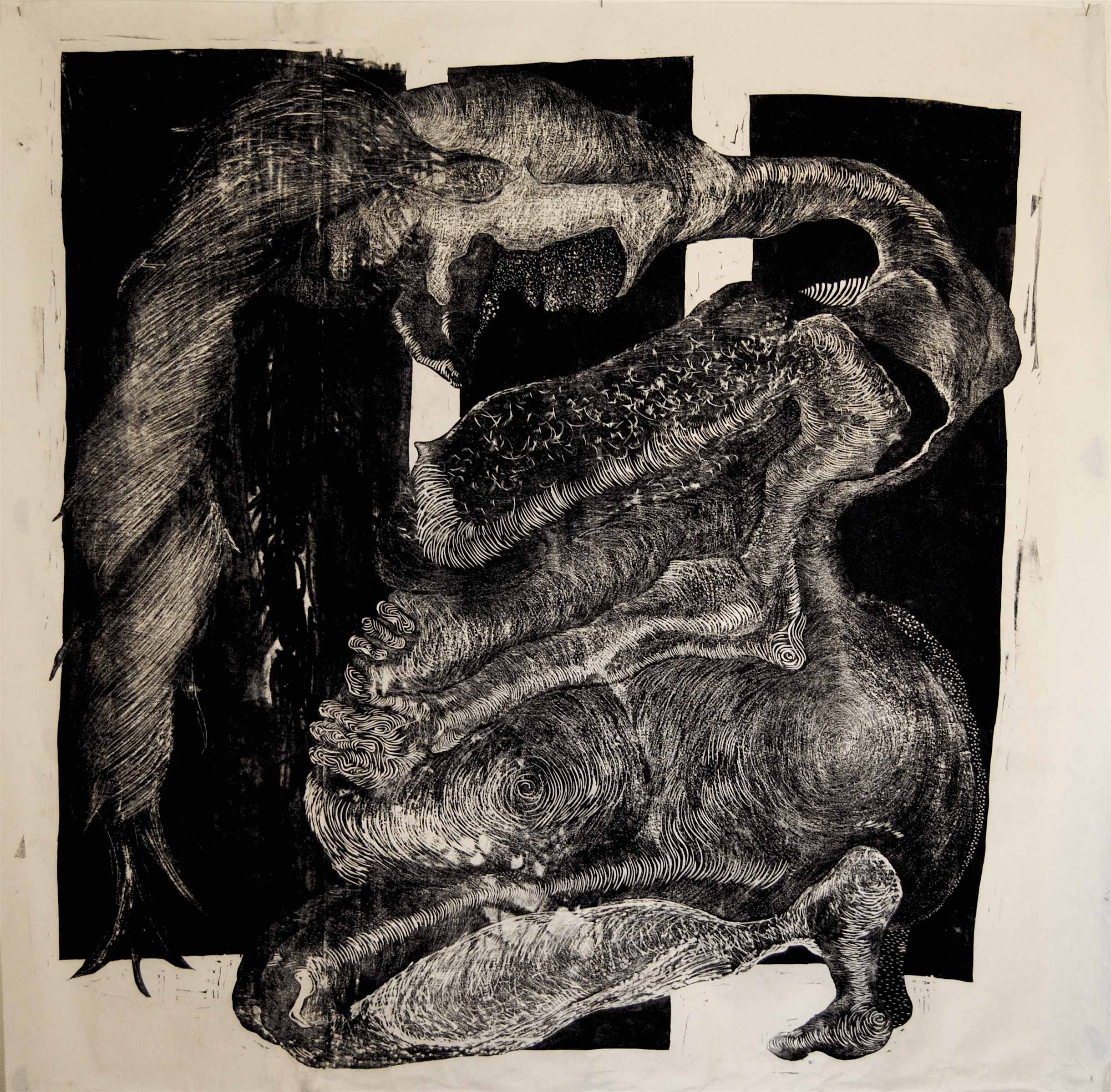 """Grasping for Mass 66""""x60"""""""