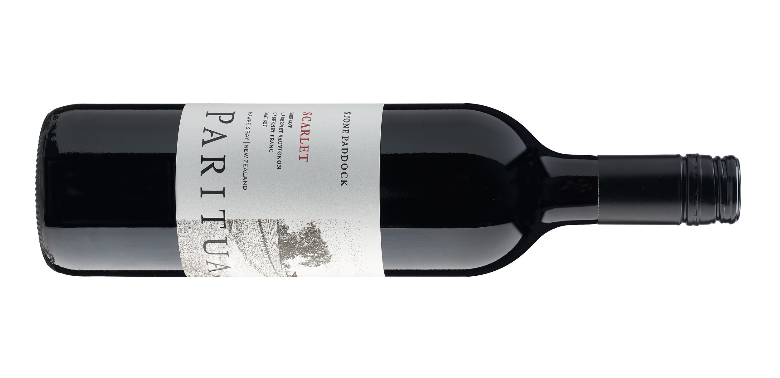 Paritua Stone Paddock - SCARLET - A blend of Merlot, Cabernet Sauvignon, Cabrenet Franc and Malbec.