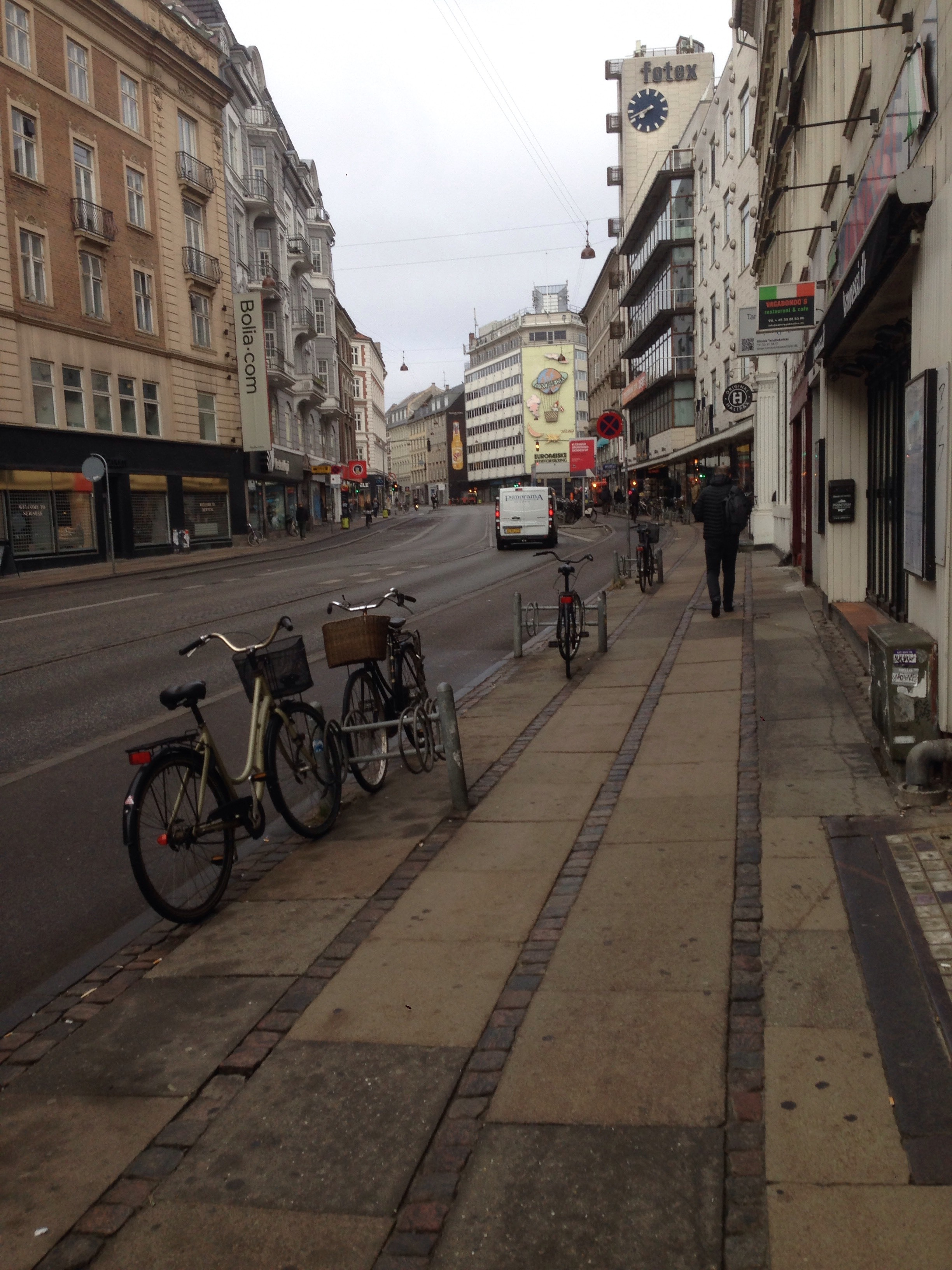 Notice how there is no traffic?  Everyone rides bikes here leaving the streets generally free of traffic. Amazing.