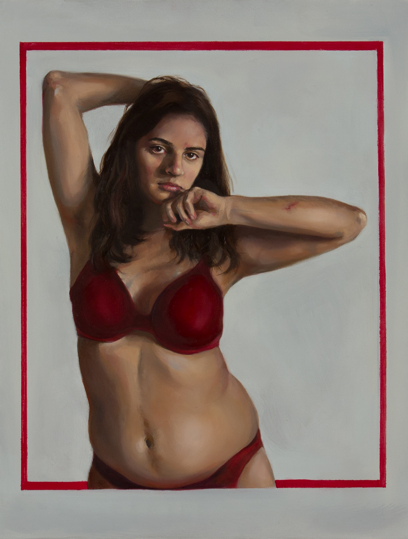 "Fiction II   oil on panel  10 7/8"" x 8 3/8,""2015"