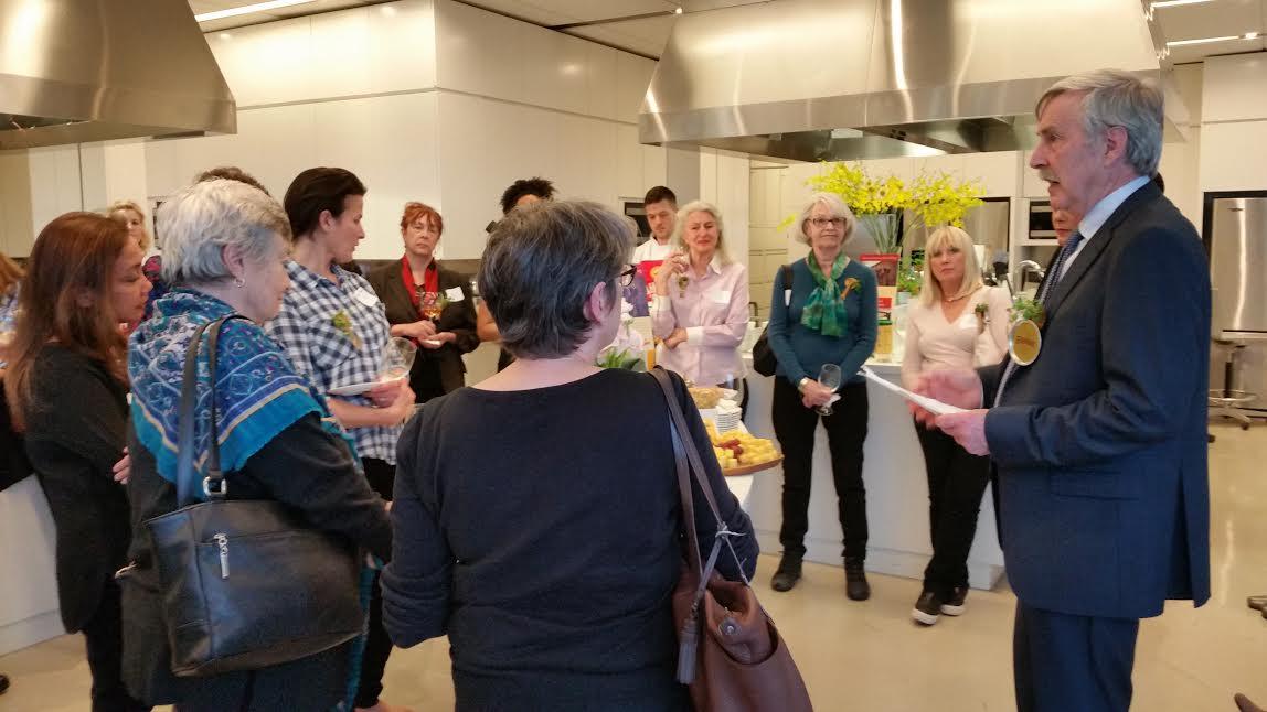 John Flahavan presenting to the New York Women's Culinary Alliance