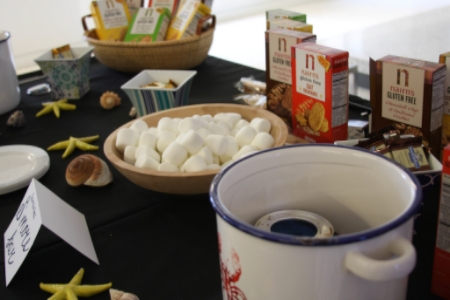 Nairn's gluten-free s'mores bar with lobster pot roasting stations