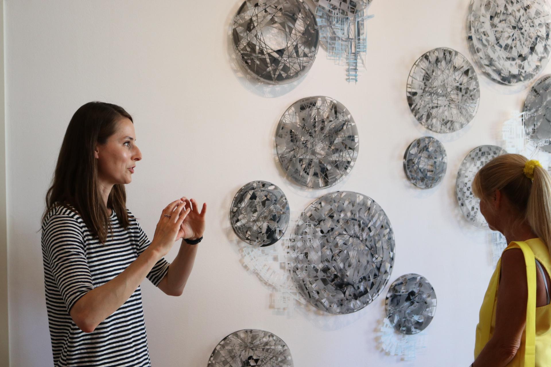 Gallery talk at Projektraum, Friedrichshafen, Germany