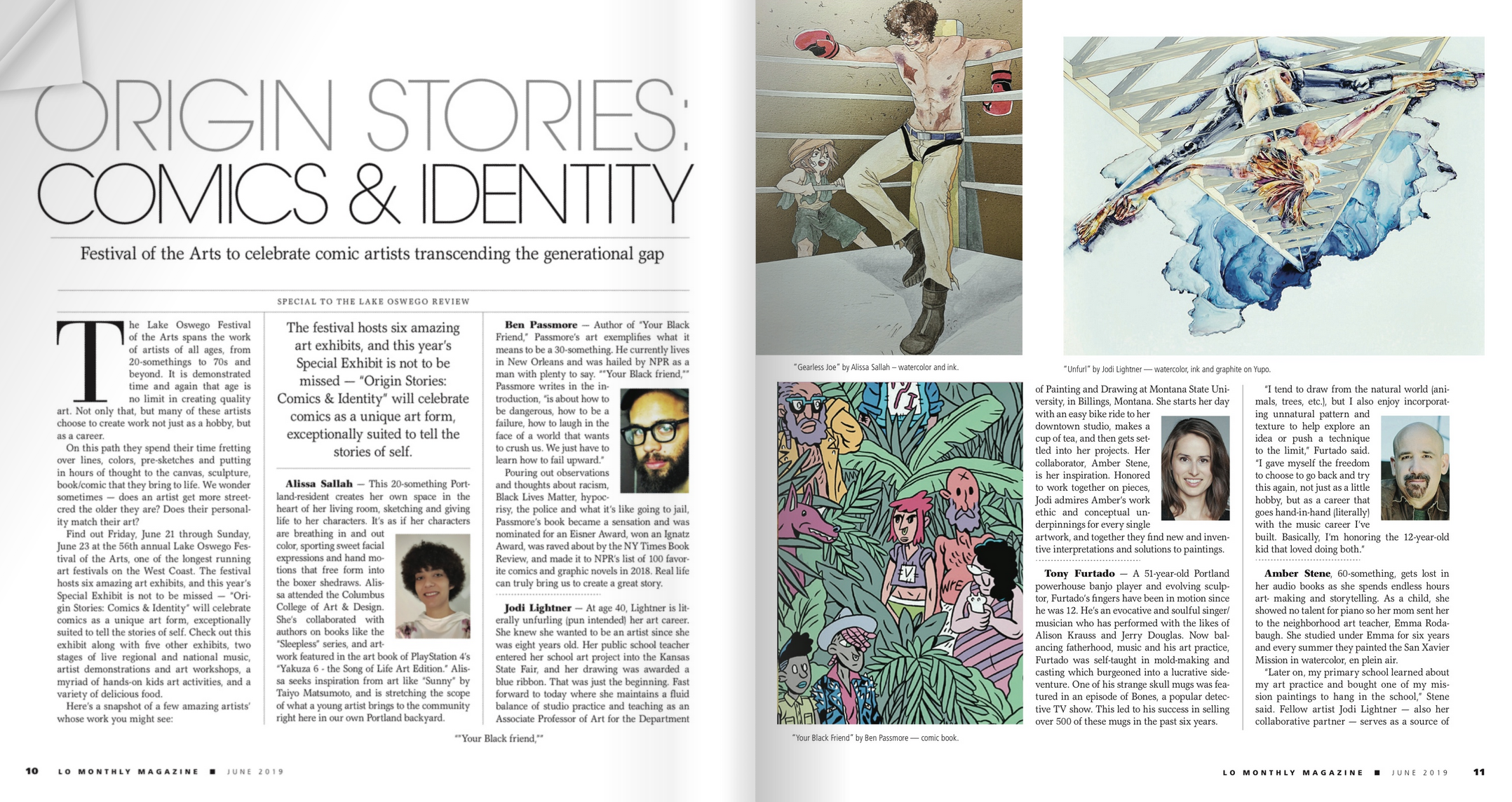 Excited to be featured in the LO Monthly Magazine with Amber for our collaborative projects!