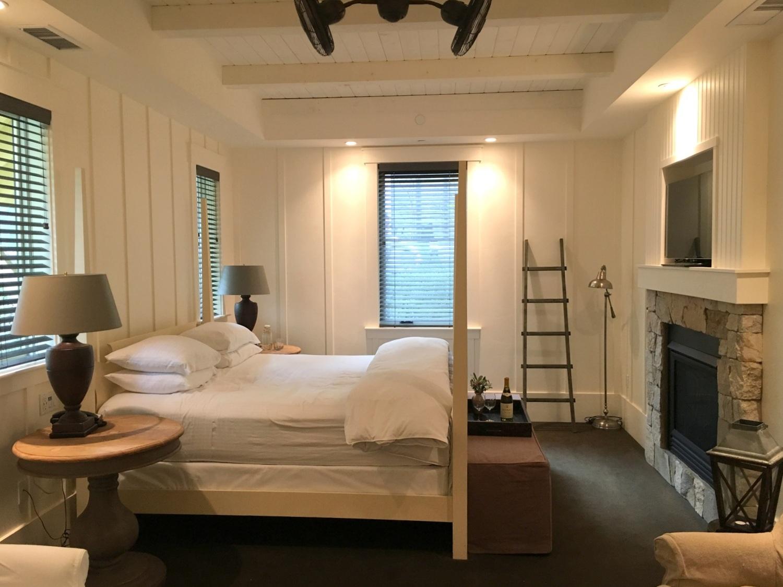 Our cozy, rustic room at Farmhouse Inn