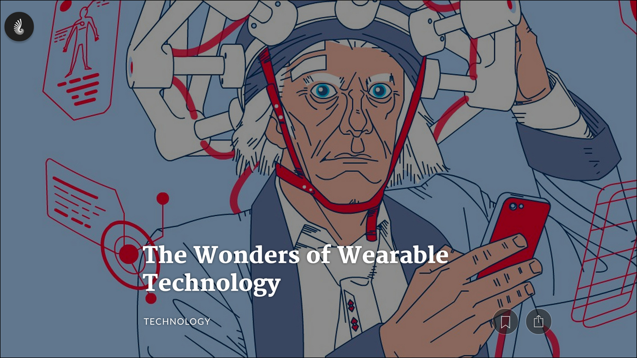Jan. 16, 2015 - Timeline.com    Our Long Love of Wearable Tech Read  Article