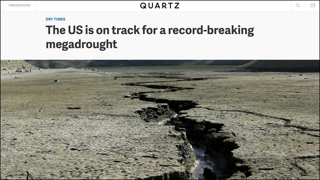 Feb. 12, 2015 - Quartz    A Drought That Lasts Half a Lifetime Read Article