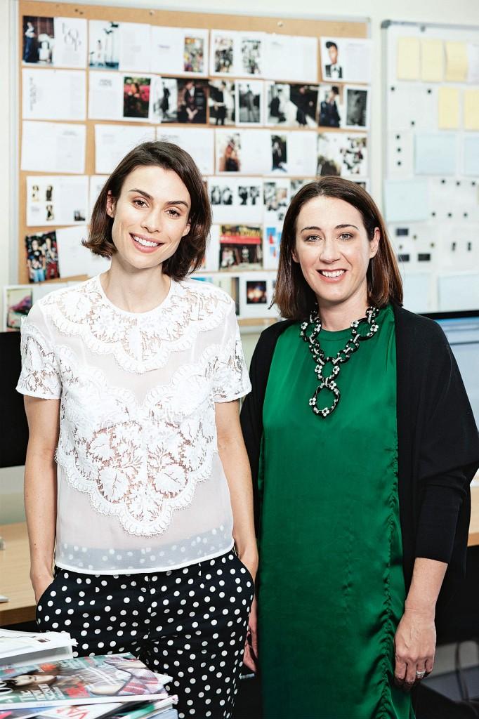 Alice Cavanagh & Edwina McCann, Editor of Vogue Australia  image: mpa
