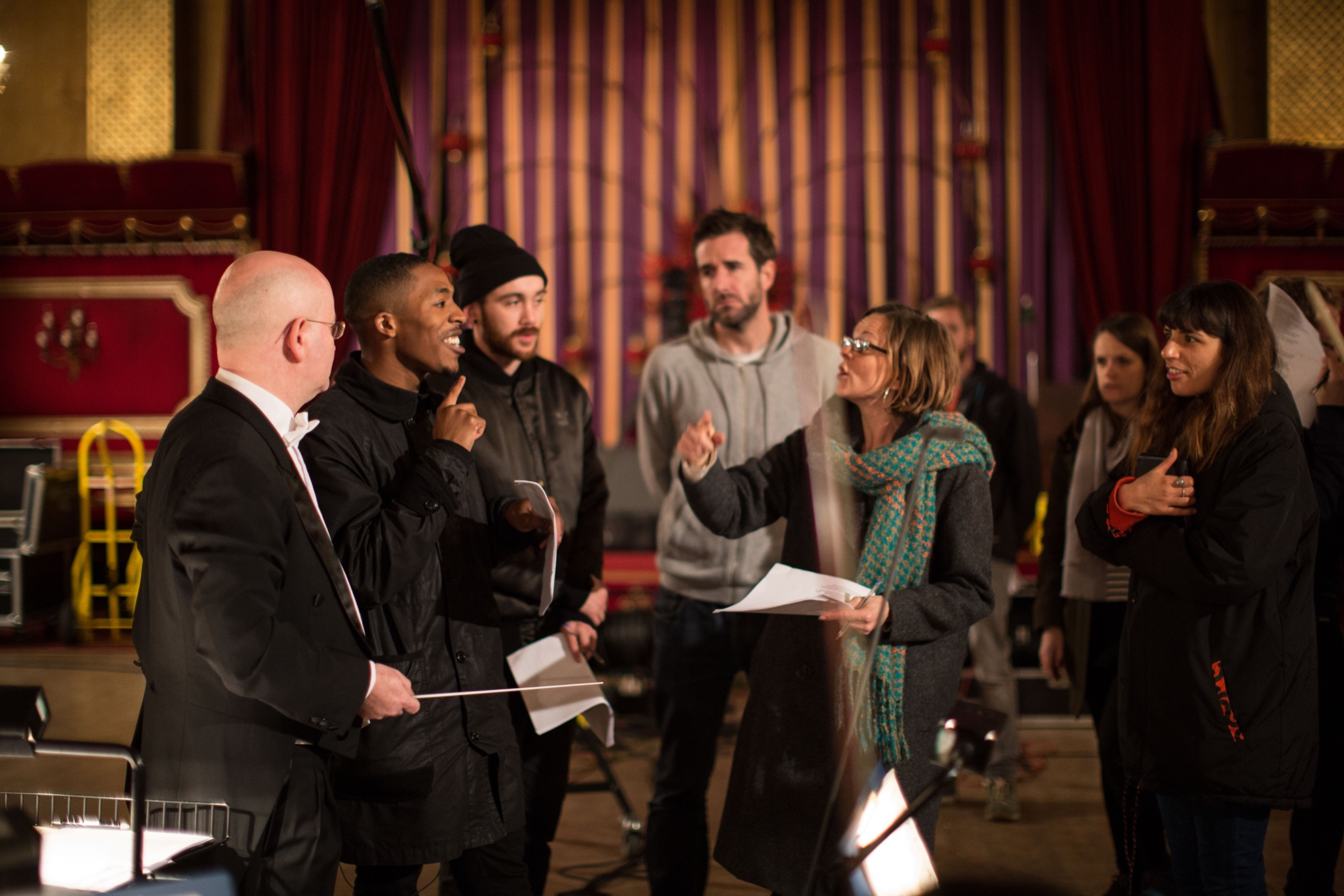 Brek working with the Royal Philharmonic Orchestra  Photo Credit: Vicky Dawe