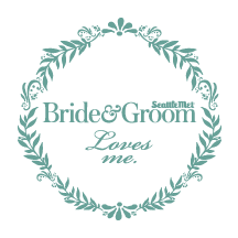 Seattle Met Bride and Groom badge