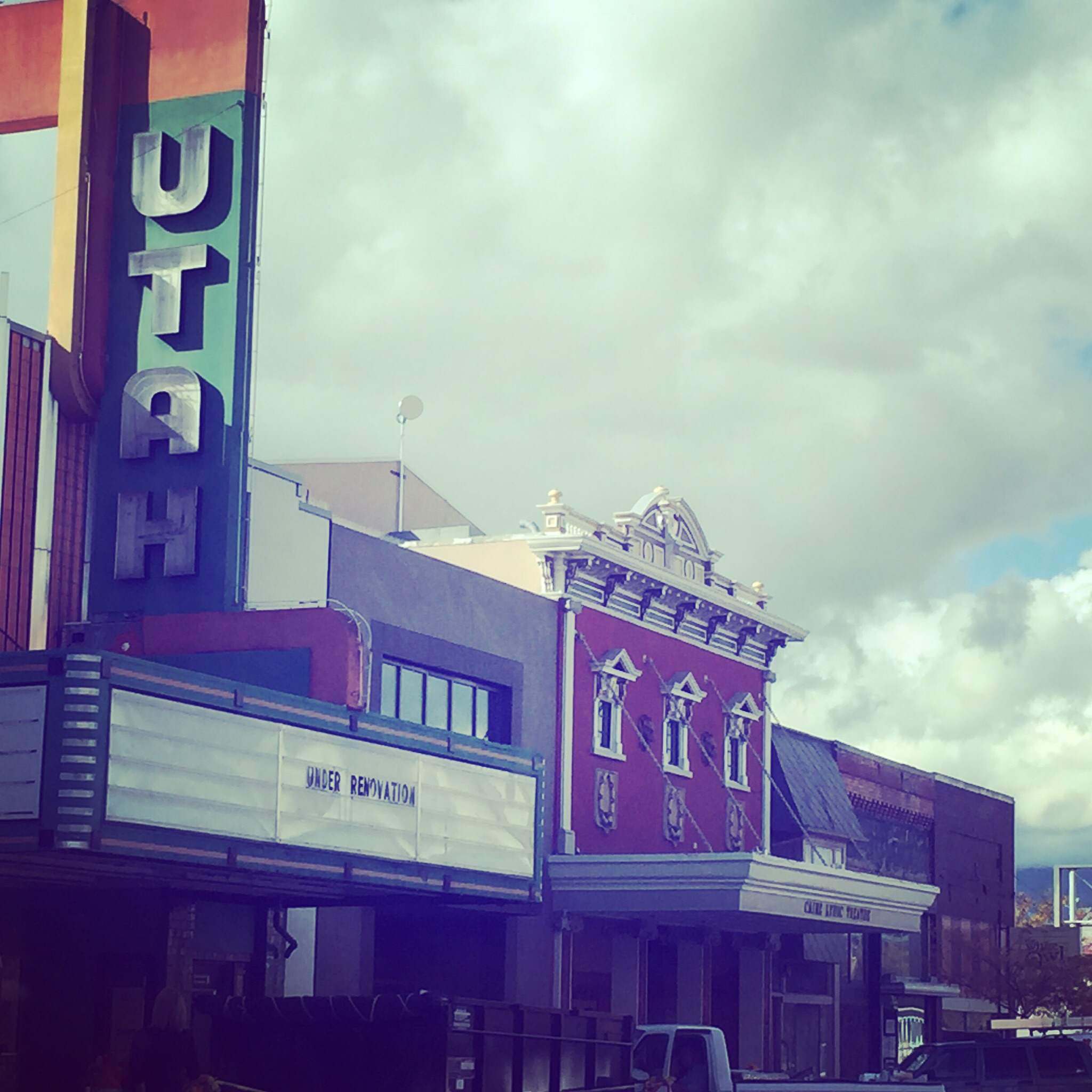 The Utah theater in downtown Logan