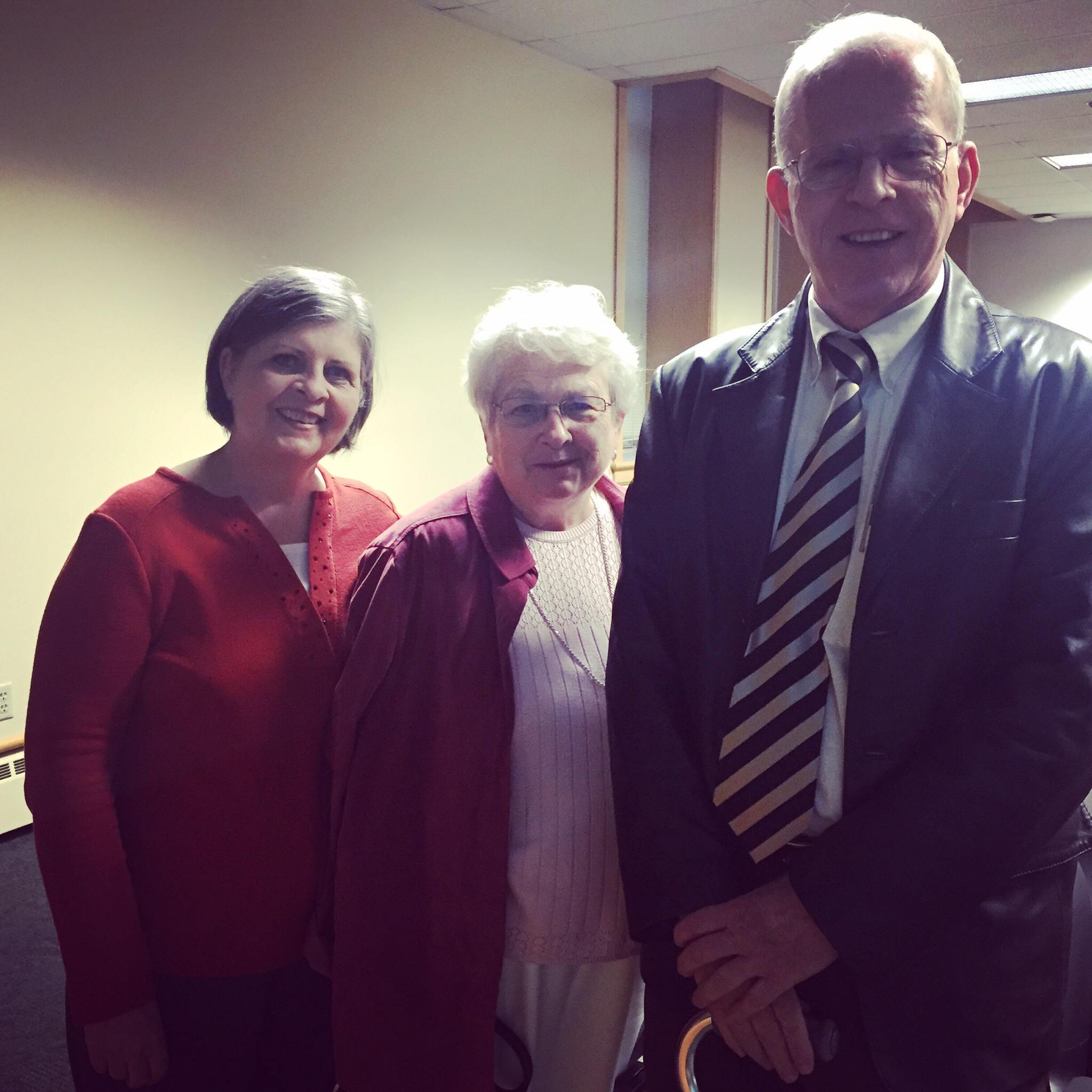 Surprise guests at my talk: Jan, Karen, and Bruce Brower, children of Stephen Brower, one of the heroes of  Downwind: A People's History.