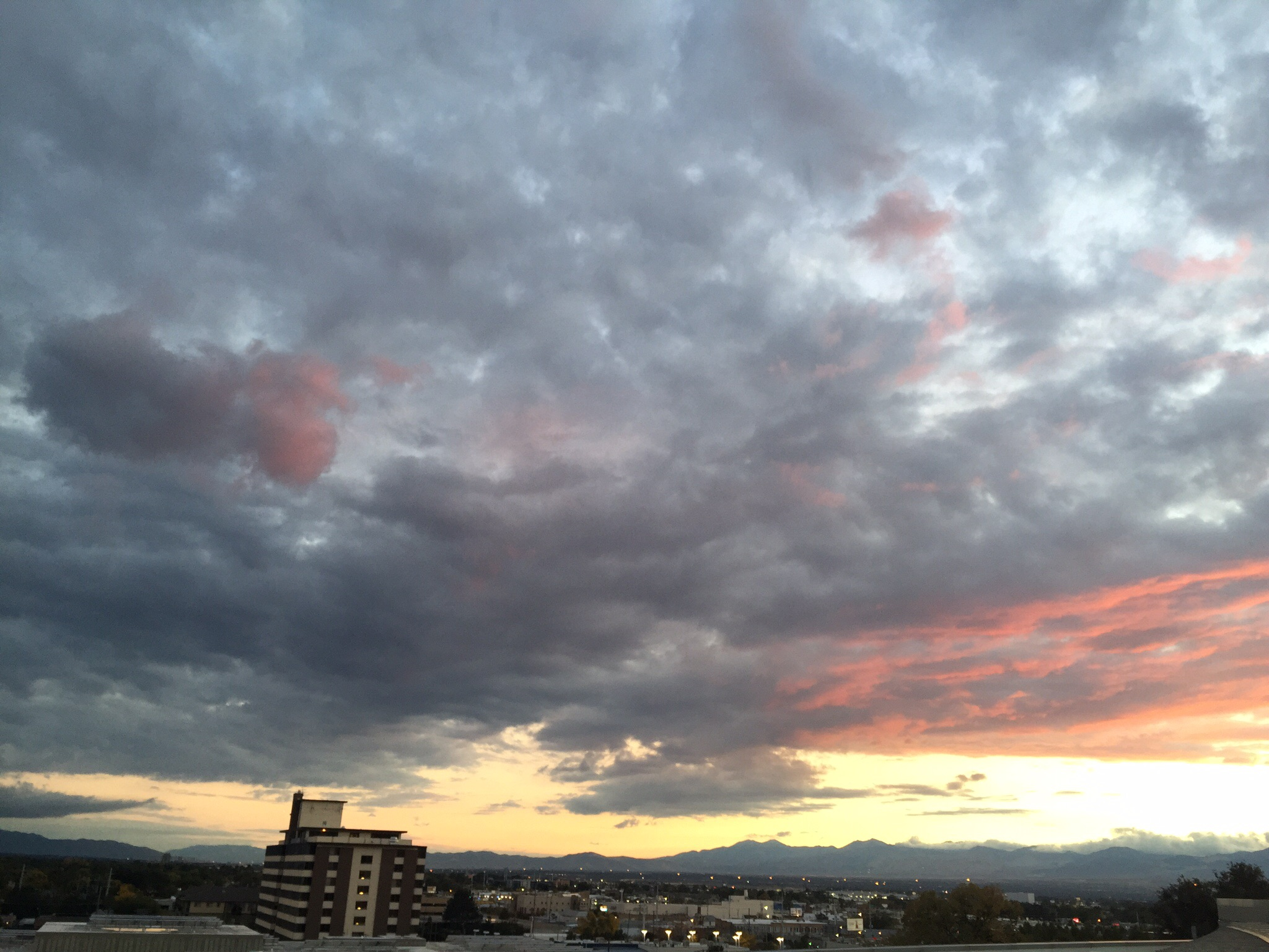 Sunset from the roof of the Salt Lake City Public Library, Tuesday October 20