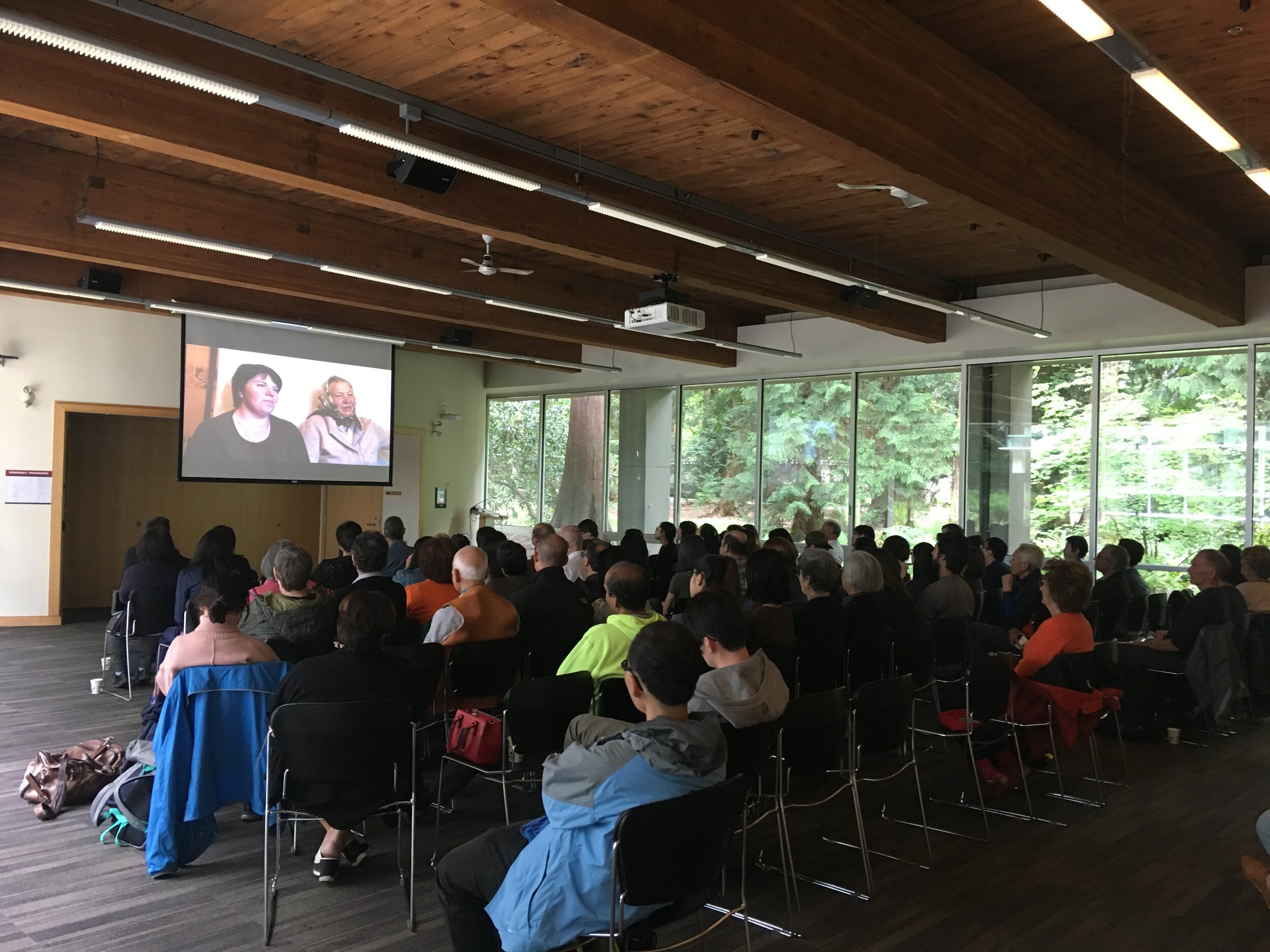 """Attendees at University of British Columbia view Hitomi Kamanaka's stunning documentary  """"Little Voices from Fukushima"""""""
