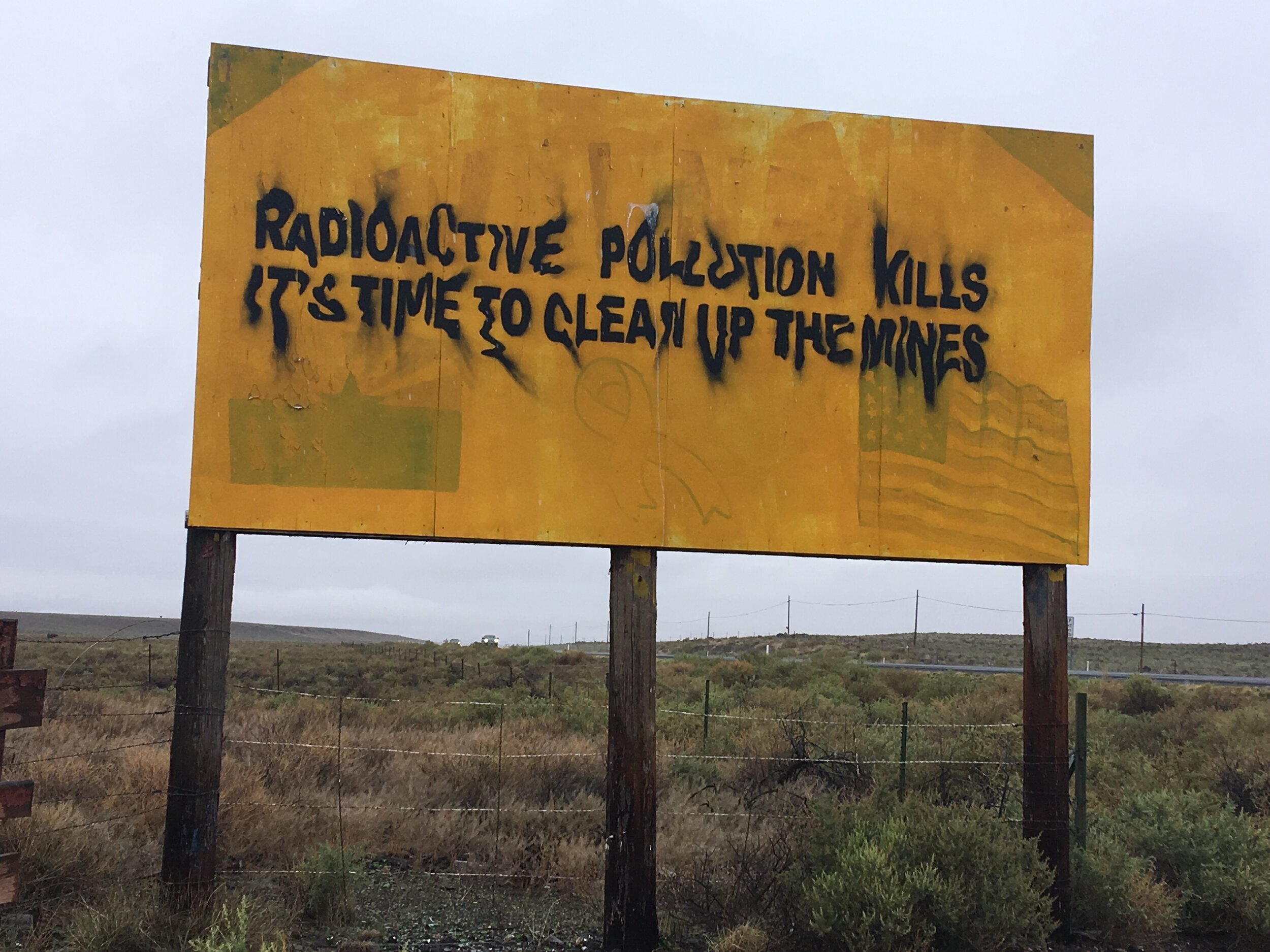 """""""Radioactive Pollution Kills: Its Time to Clean Up The Mines,"""" installation by artist @jetsonorama. Learn more about his work  here ."""