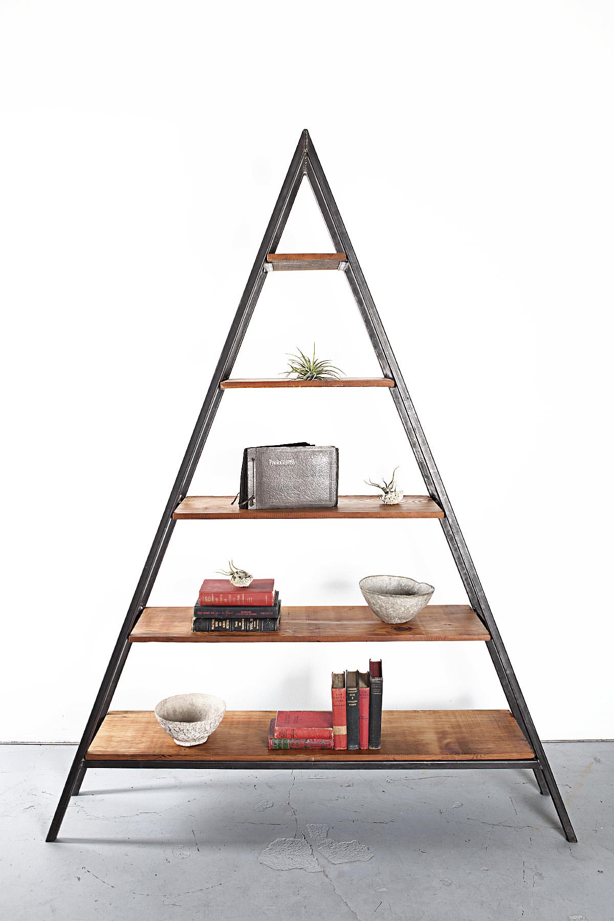Custom Reclaimed Fir Triangle Shelf