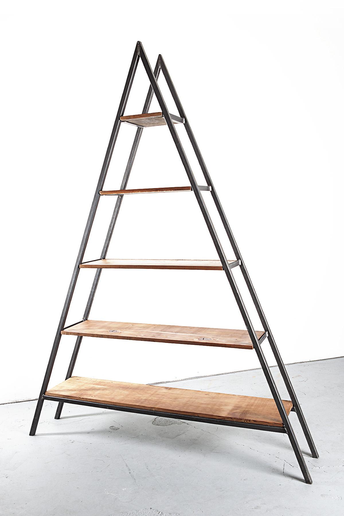 Custom Reclaimed Wood Triangle Shelf