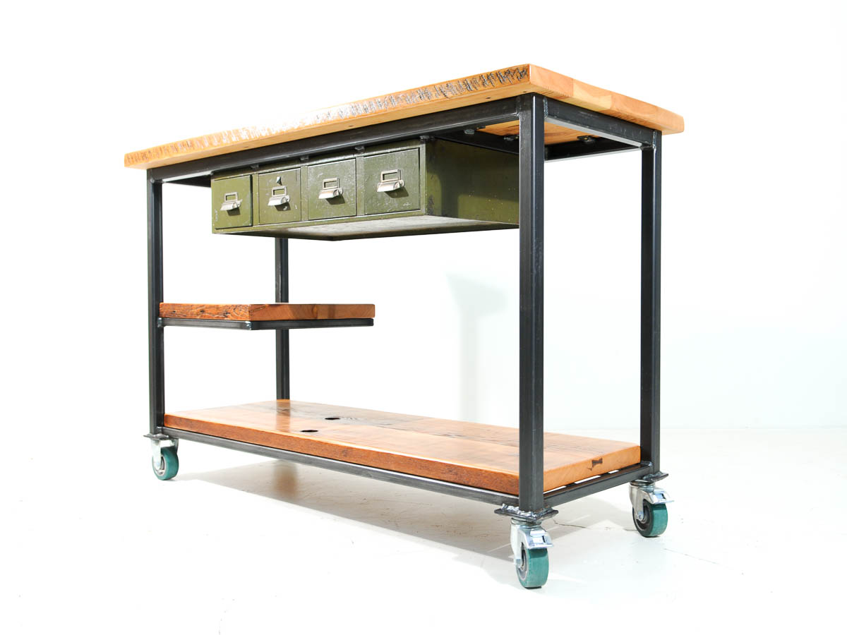 Custom Reclaimed Wood Kitchen Island Sales Counter