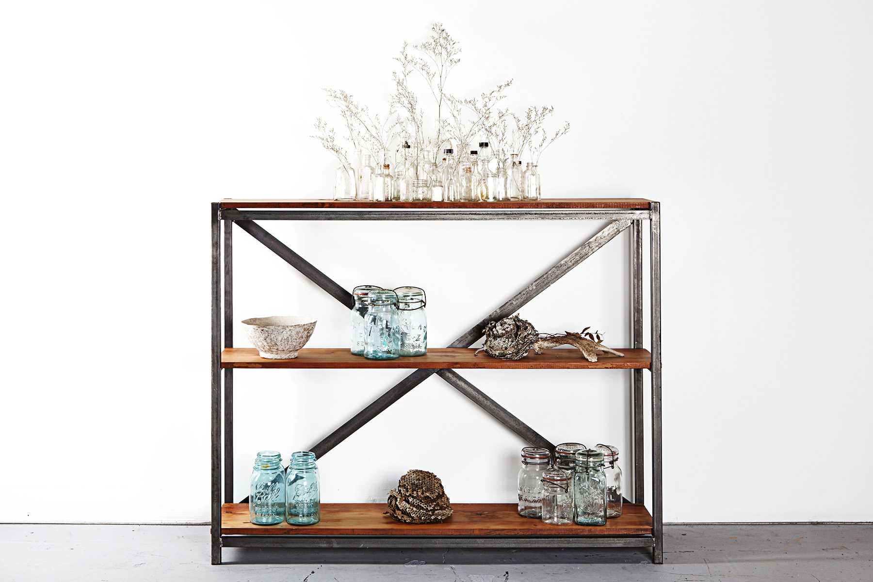 Reclaimed Wood X-Frame Shelf.jpg