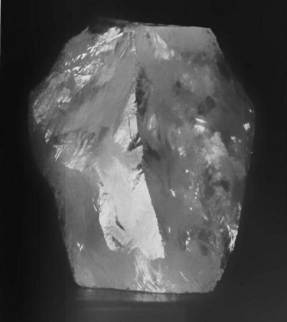 The raw Cullinan Diamond, prior to being cut.