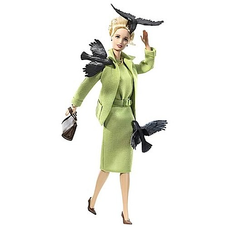 "A barbie was created in Tippi's likeness, and shows a more glamorous version of her infamous ""bird attack"" scene."