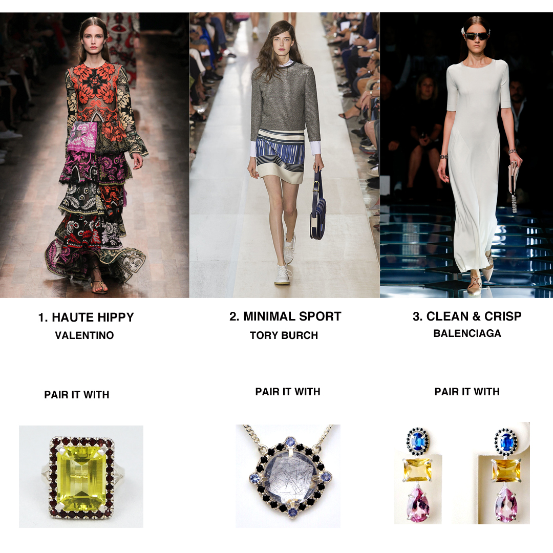 Spring trends complimented by stunning couture pieces by Gem Steady