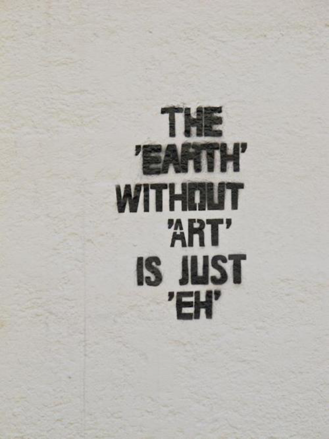 The Earth Without Art