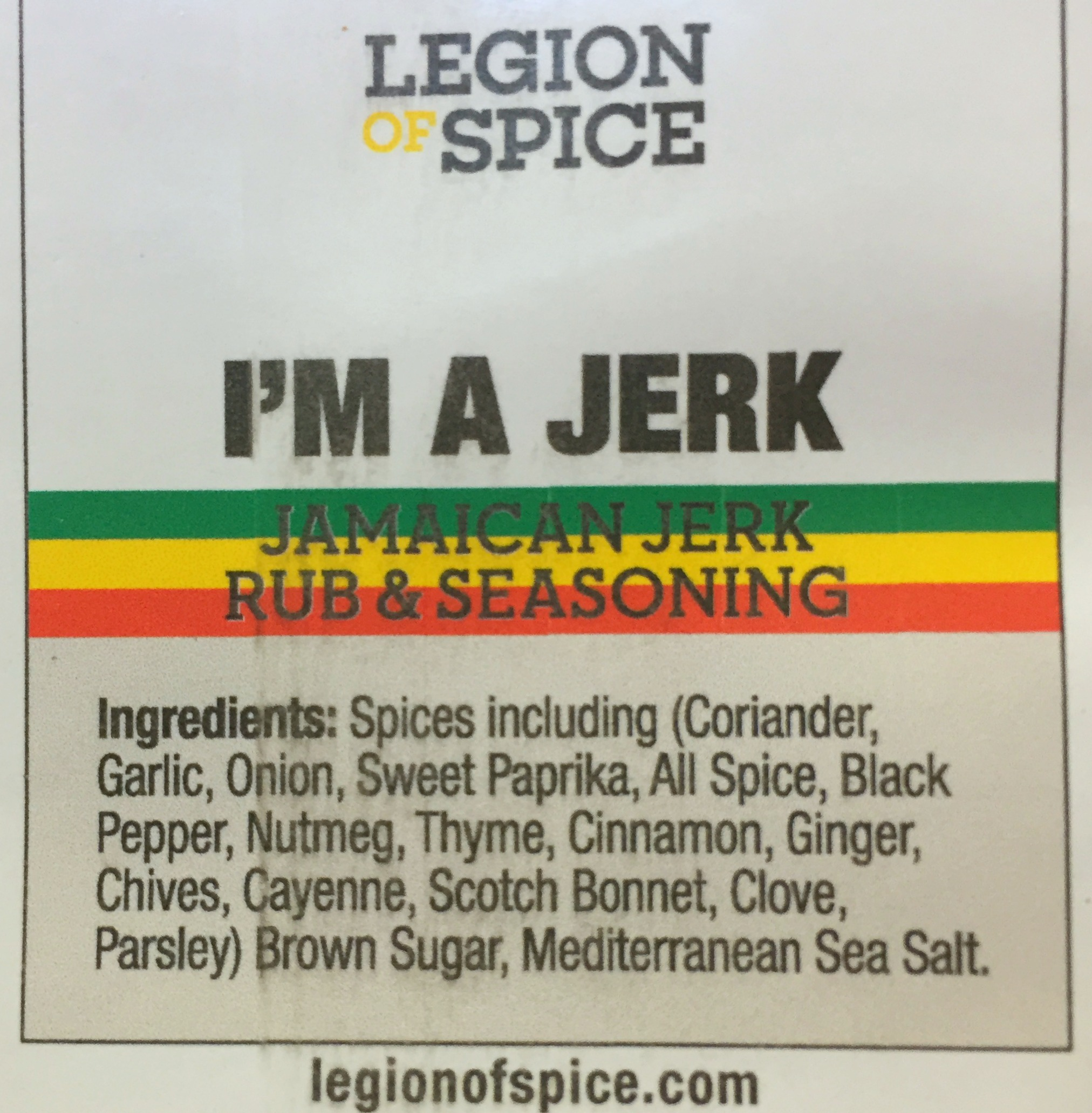 Legion of Spice Jerk Chicken