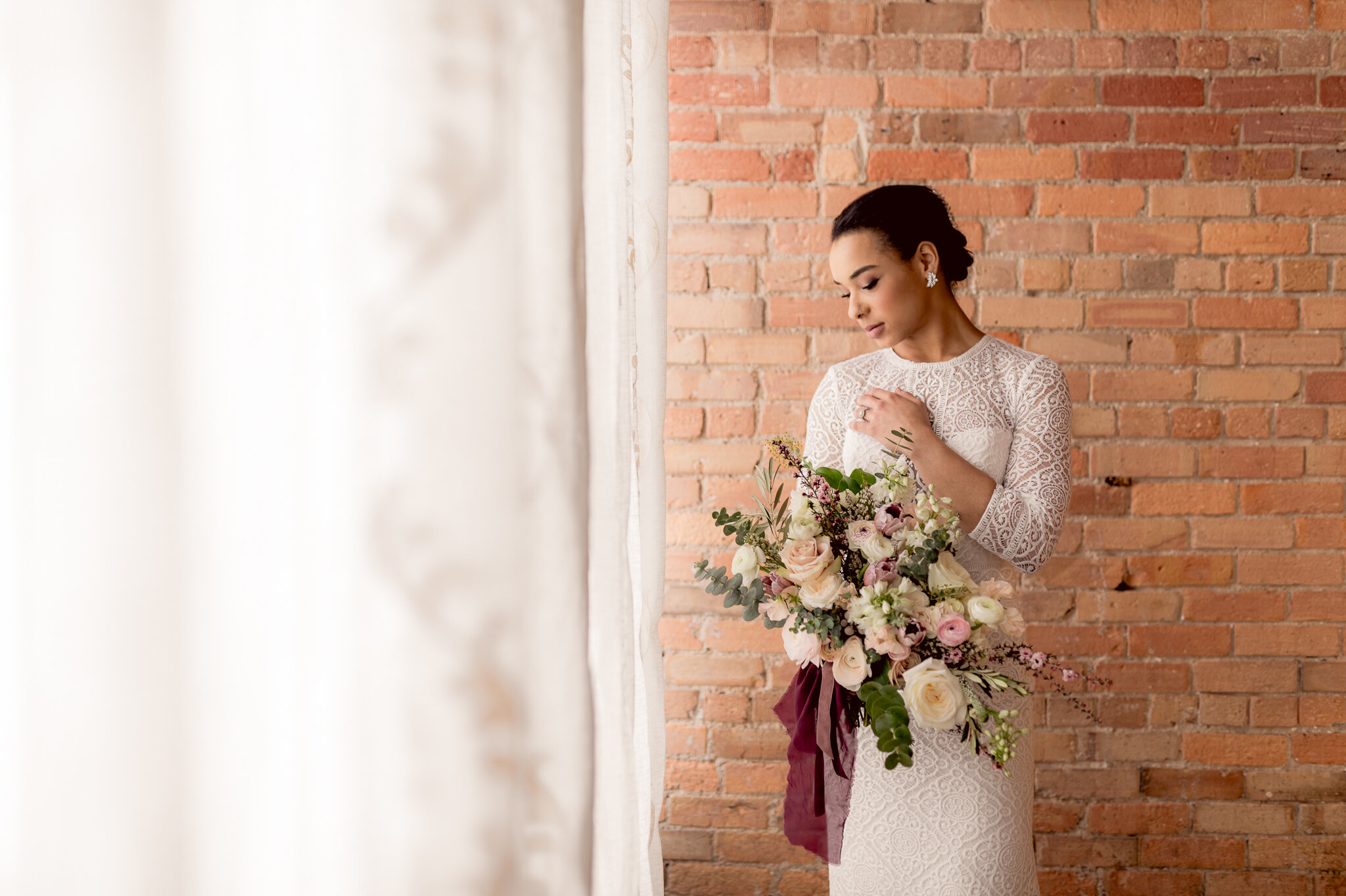 Bridal Inspiration With Romantic Hues At The Venue Asheville Nc Jenni Chandler Photography