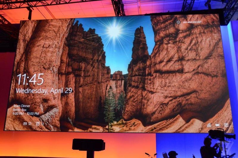 Microsoft Spotlight / http://www.theverge.com/2015/4/29/8514345/windows-spotlight-lock-screen-with-ads