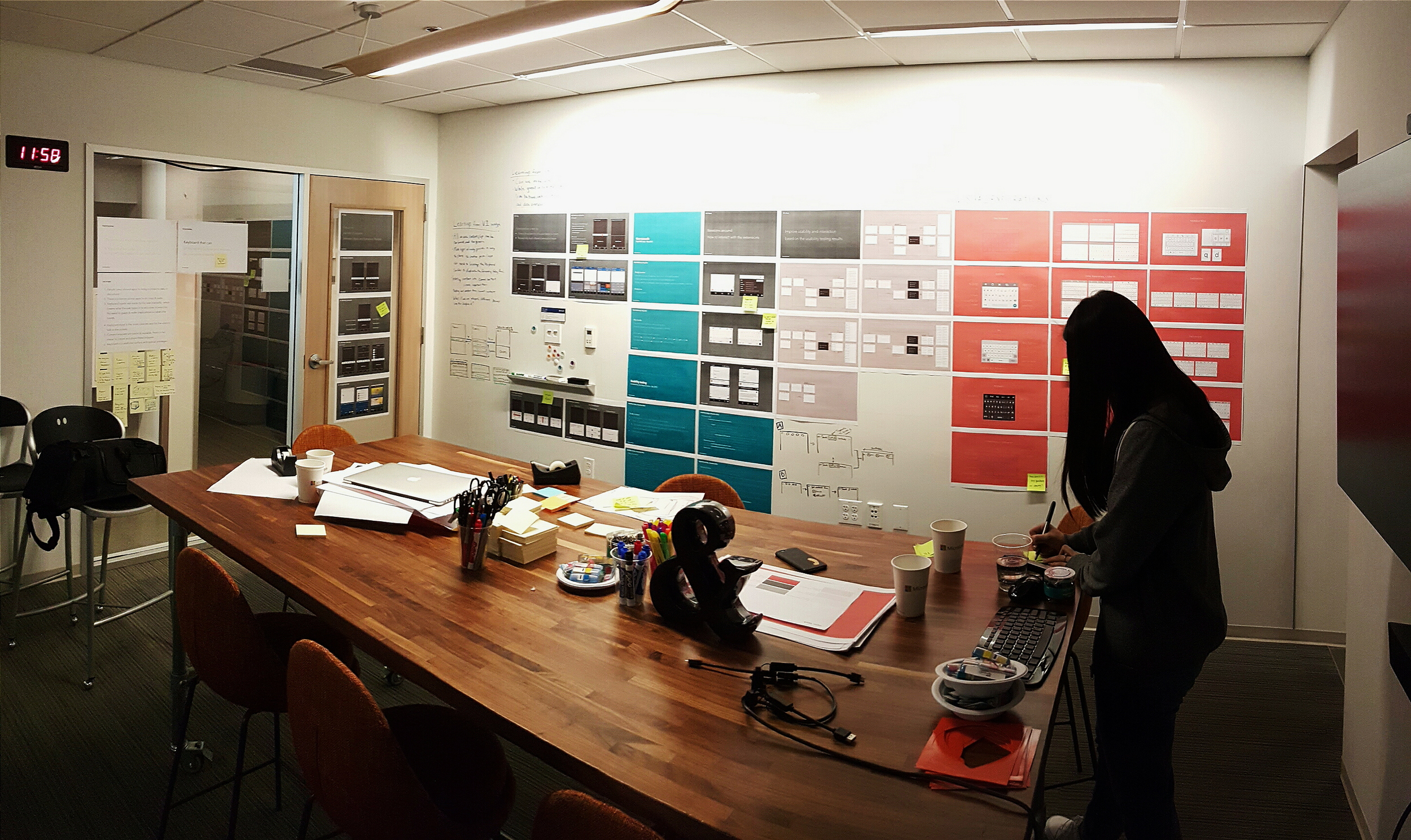 A room where we laid out a summarized version of the process. February 2016.