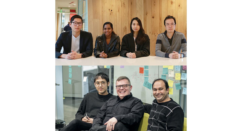 The team (Top left to clock-wise): Steve Won, Nishadi Kolonne, Sunmin Chung, Benny Chau, Jignesh Panchal, Elmar Langholz, Jason Kim