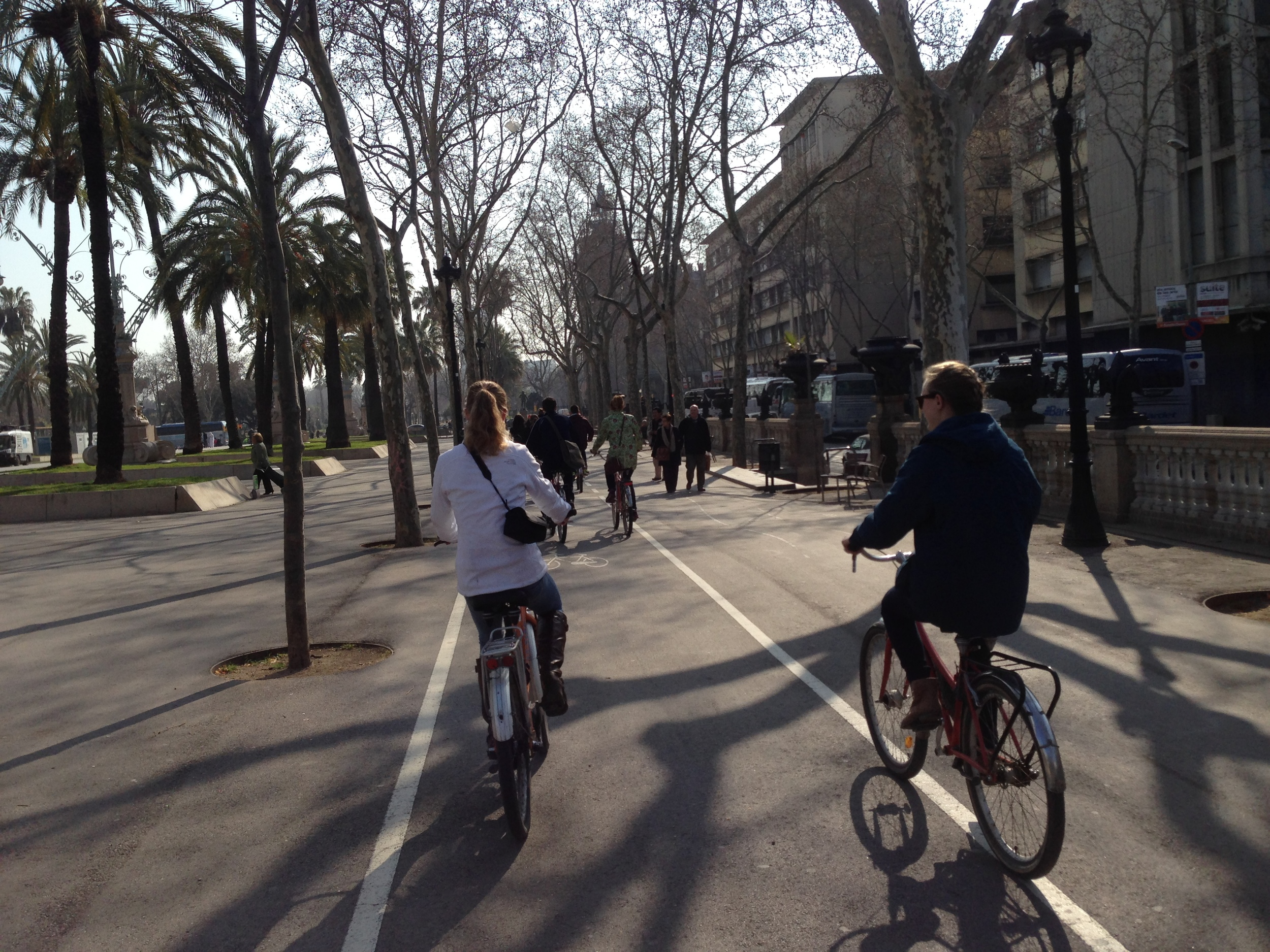 Bicycling through Barcelona