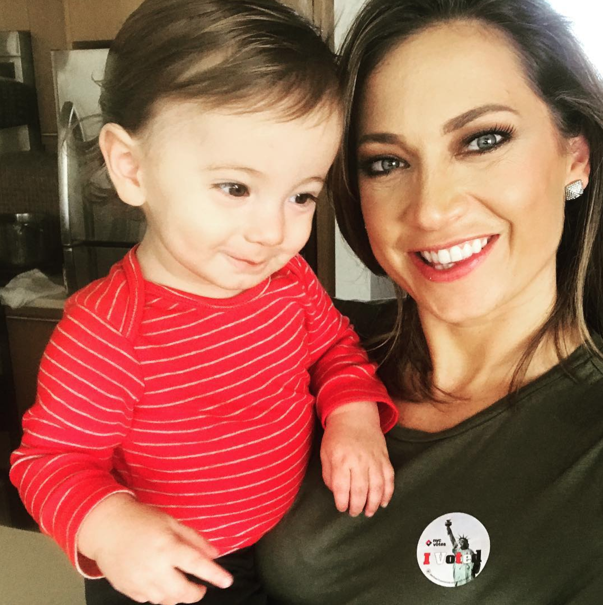 Adrian and his Mom - Instagram @ginger_zee