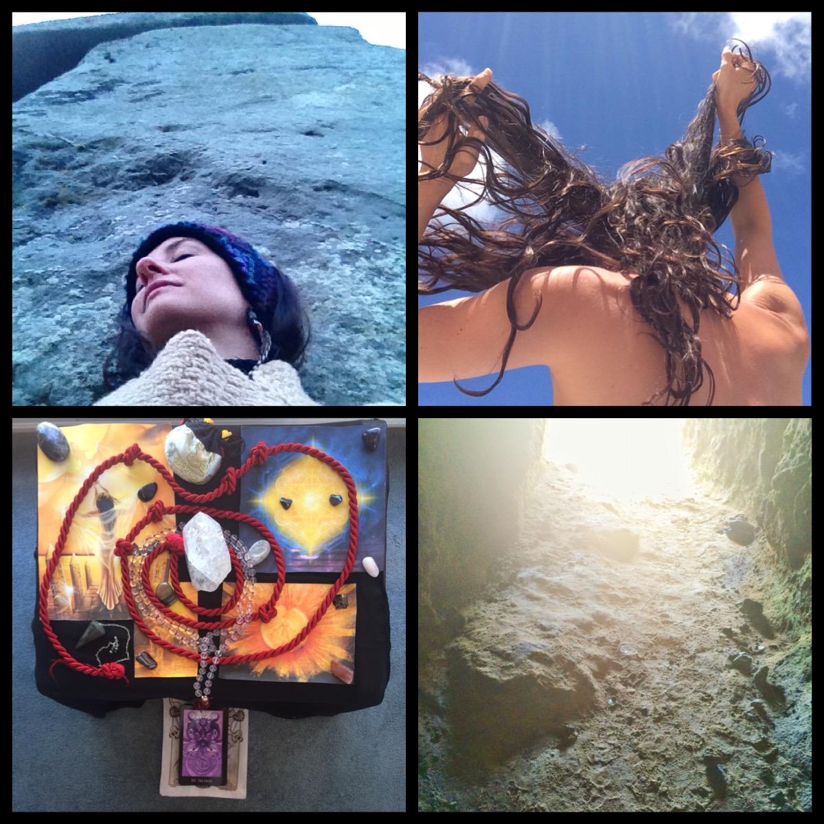A. Litha 2013, Stonehenge; B. Litha 2015, Eternity Cove; C. Litha 2015, Altar; D. Litha 2015, Cave