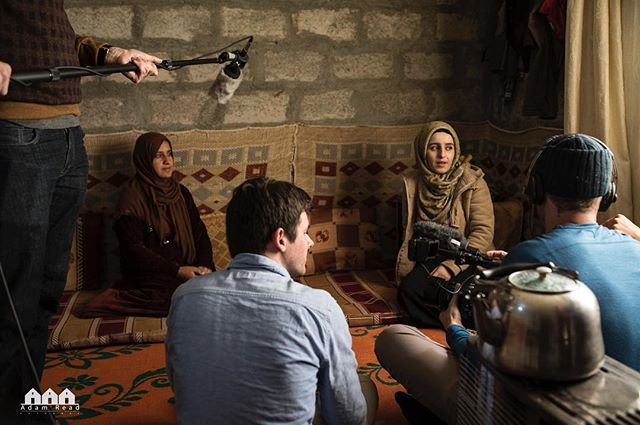 Behind the Scenes: Speaking about life, family, and what home is. PC: @adamreadfoto #refugeedocumentary #interview #family