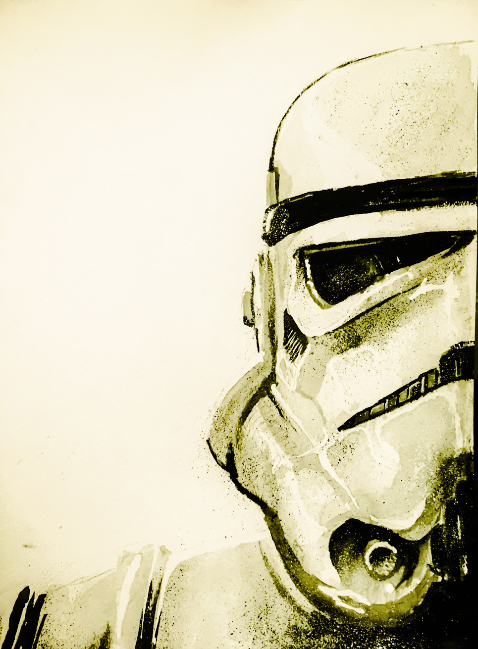 12.16.2015 Everyday Number 77 Its not a troopah! (Old School Stormtrooper)