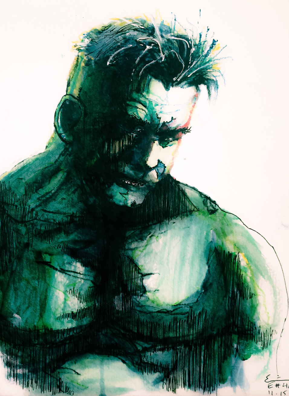 11.15.2015 Everyday Number 46 Sad Hulk