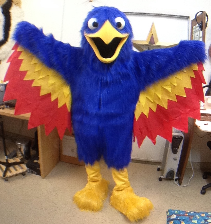 Phoenix bird mascot character costume by Matthew McAvene.jpg