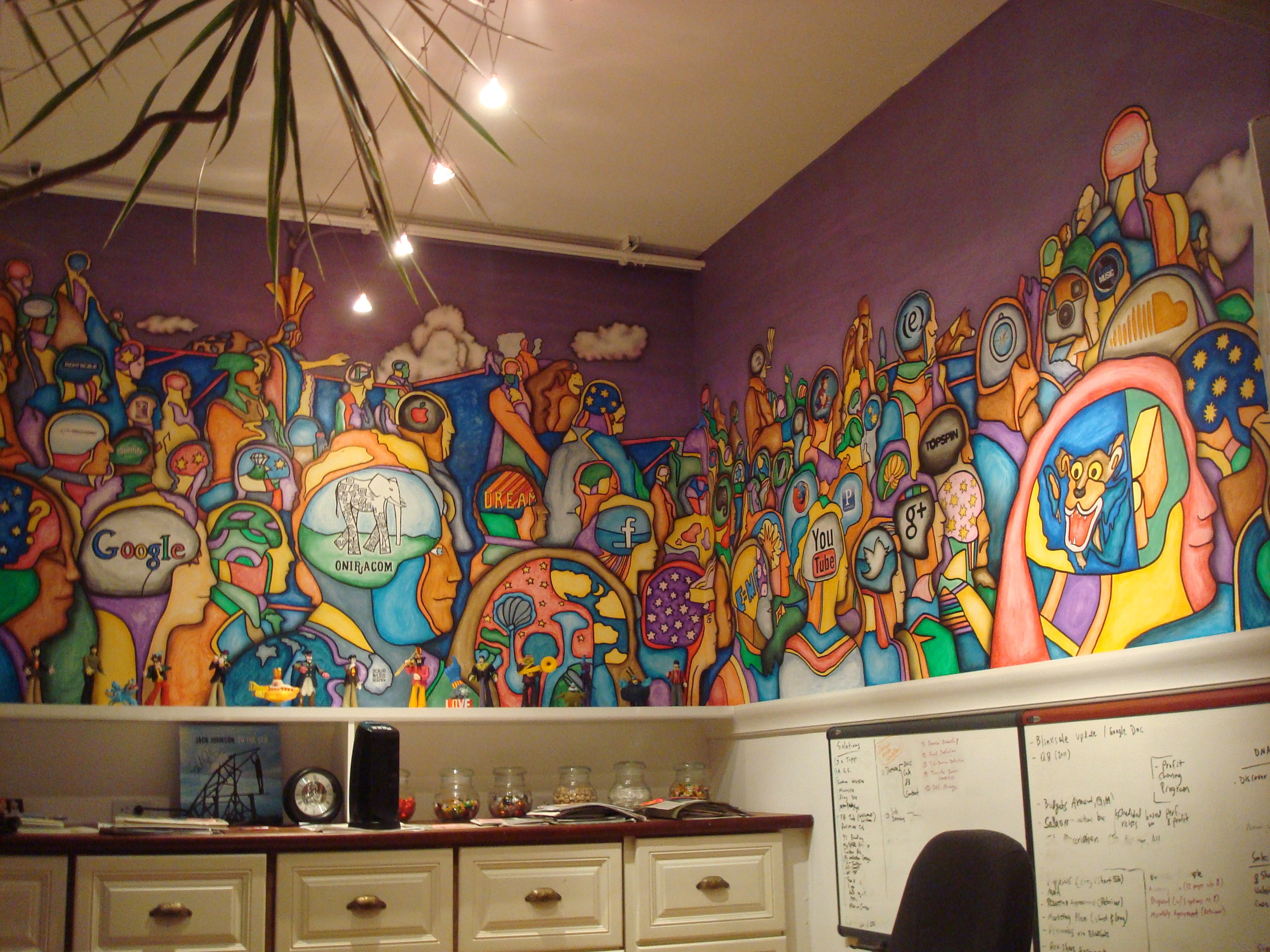 Yellow Submarine Mural by Matthew McAvene at Oniracom Corp, Santa Barbara, CA..JPG