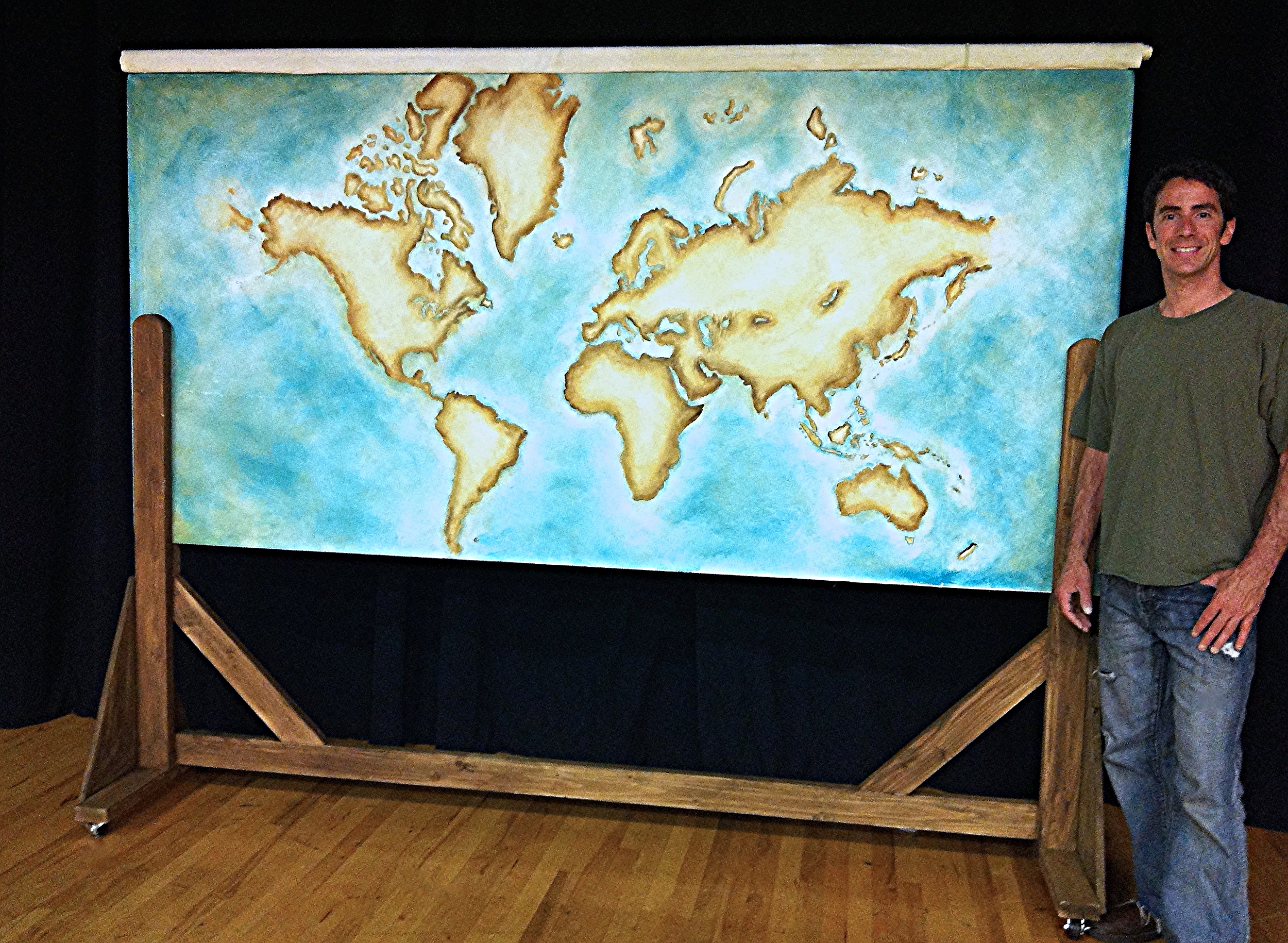 World Map Painting & Rolling Set Flat for King and I by Matthew McAvene Creations.jpg