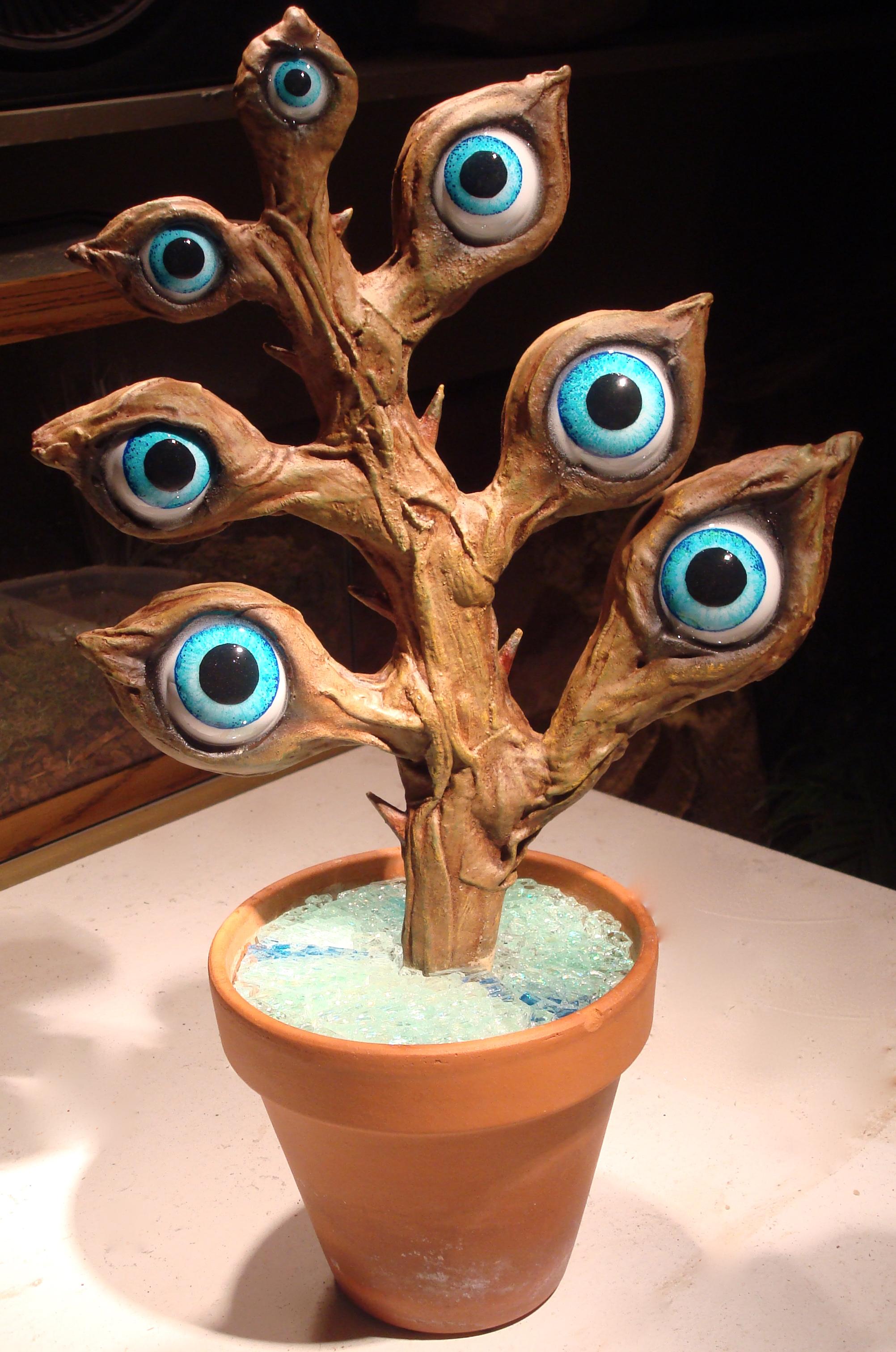 Eye Plant Sculpture (Front) 24%22 Mixed Media by Matthew McAvene.jpg