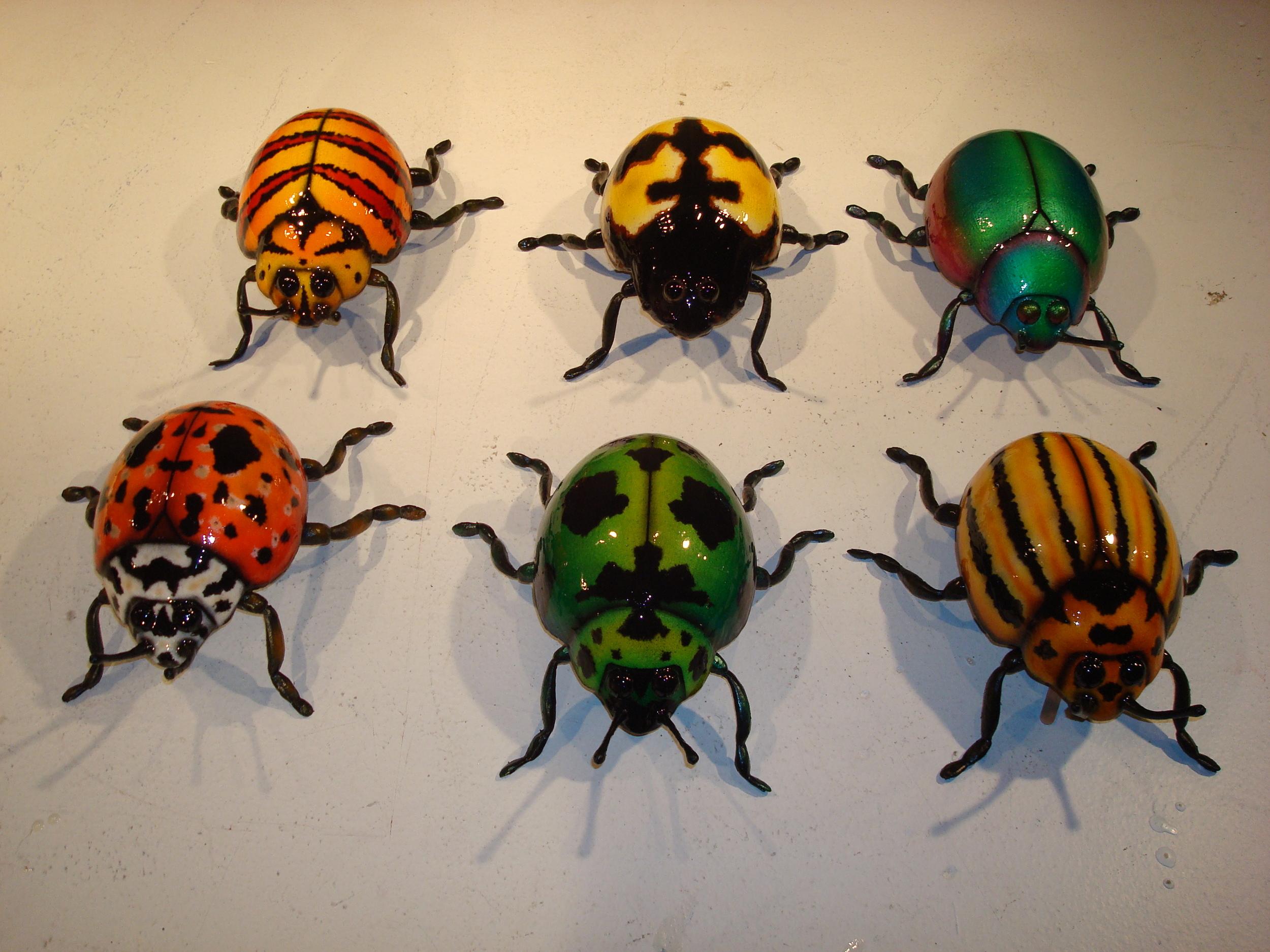 """12"""" Beetle Sculptures by Matthew McAvene"""