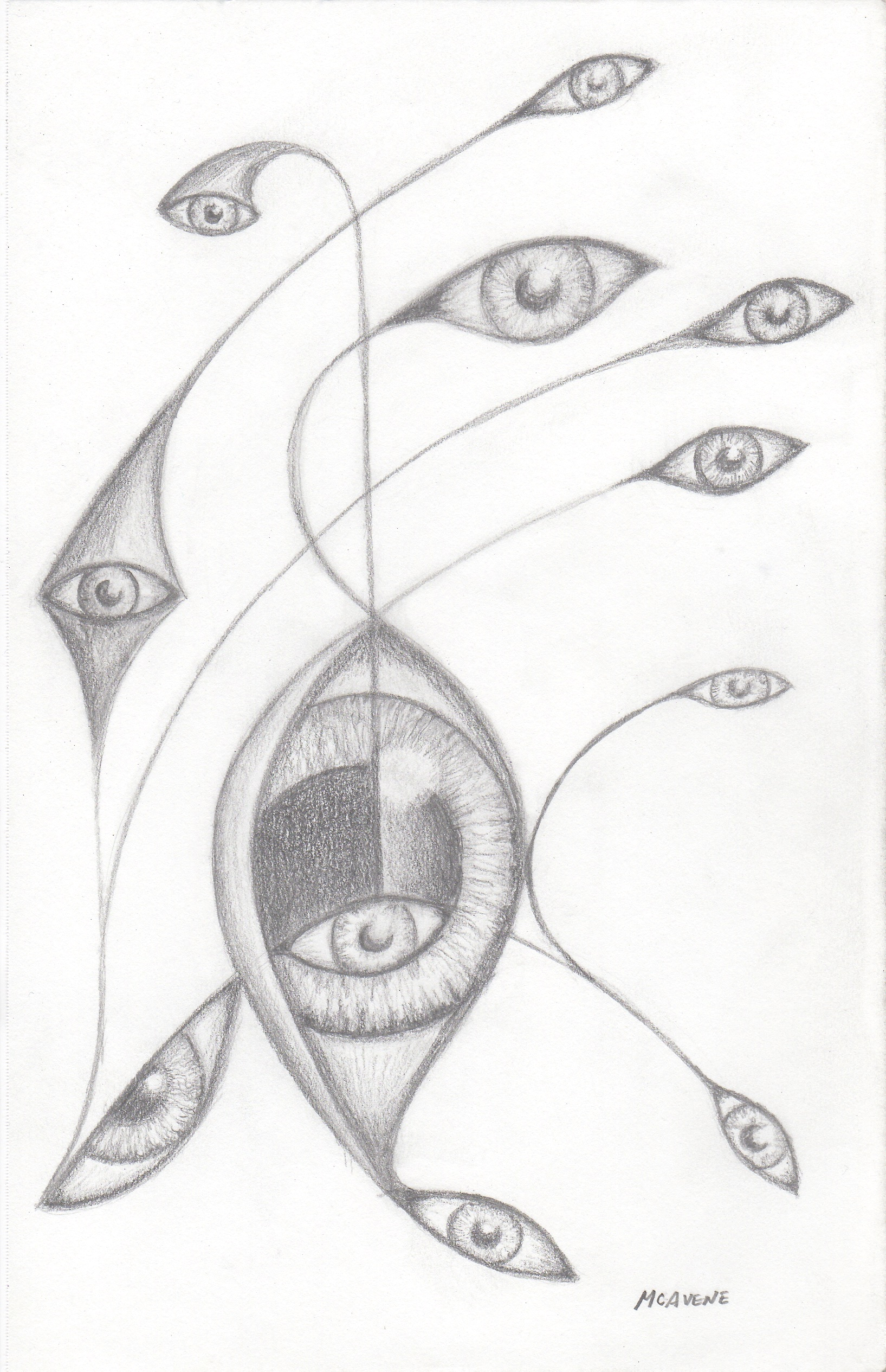 "'String Theory' Pencil on Paper 5.5"" x 8.5"""