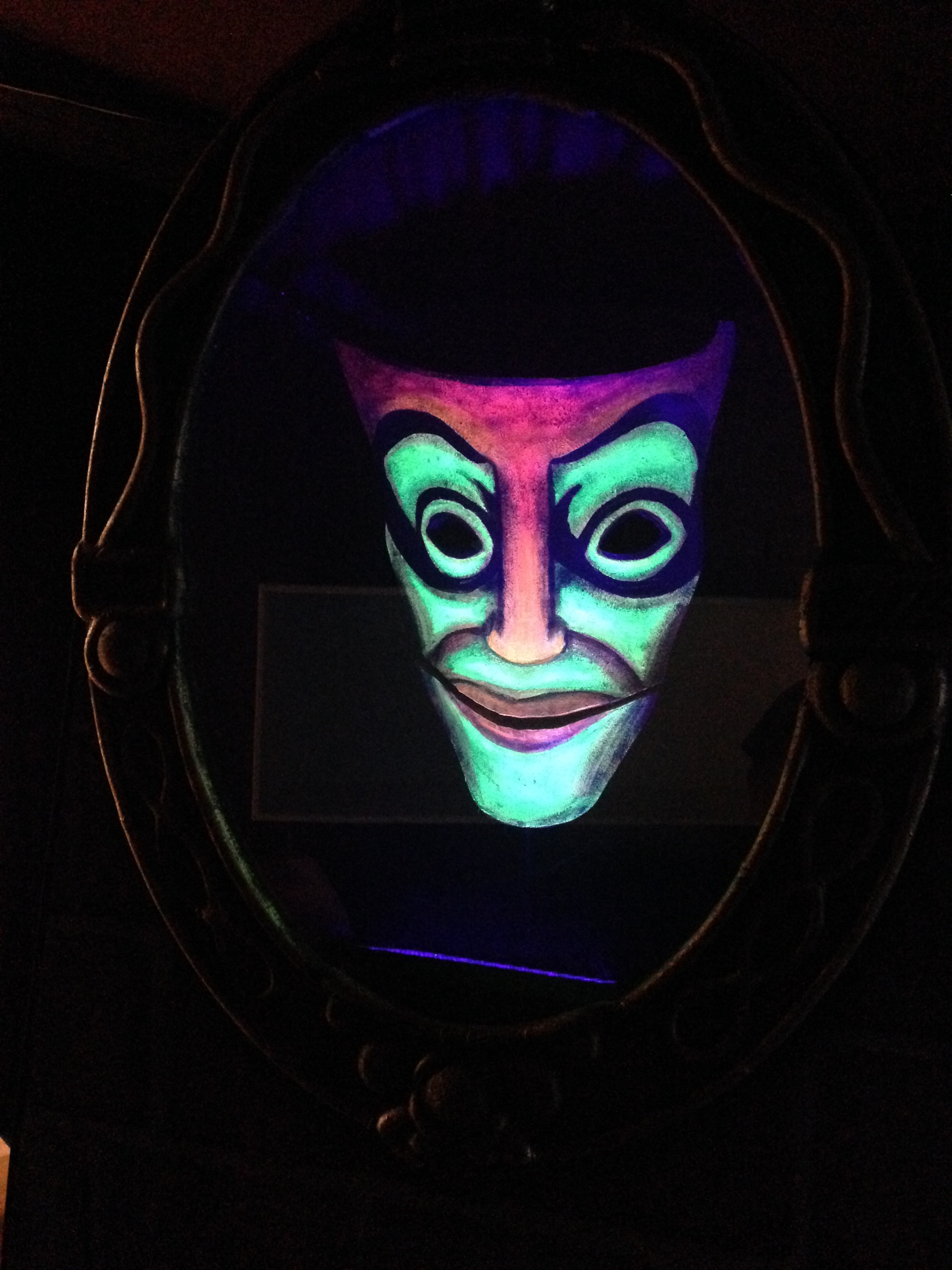 Magic Mirror Puppet with Black Light Paint by Matthew McAvene