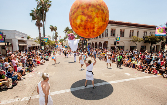 Giant Sun Bouncing Ball by Matthew McAvene for Santa Barbara Solstice Parade